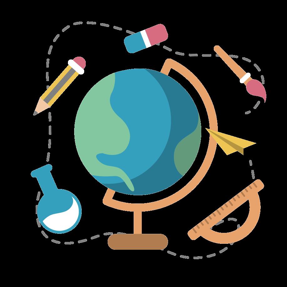 地球儀;地球儀と勉強