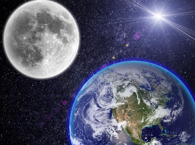 地球儀;月と太陽