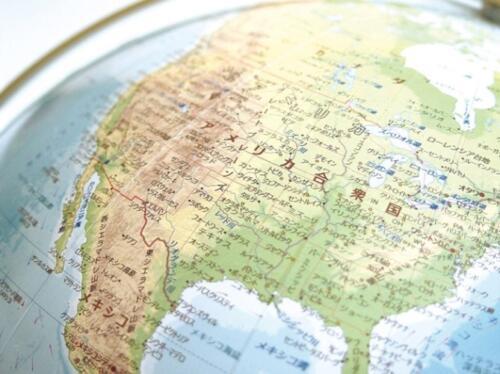 地球儀;地勢型のアップ5